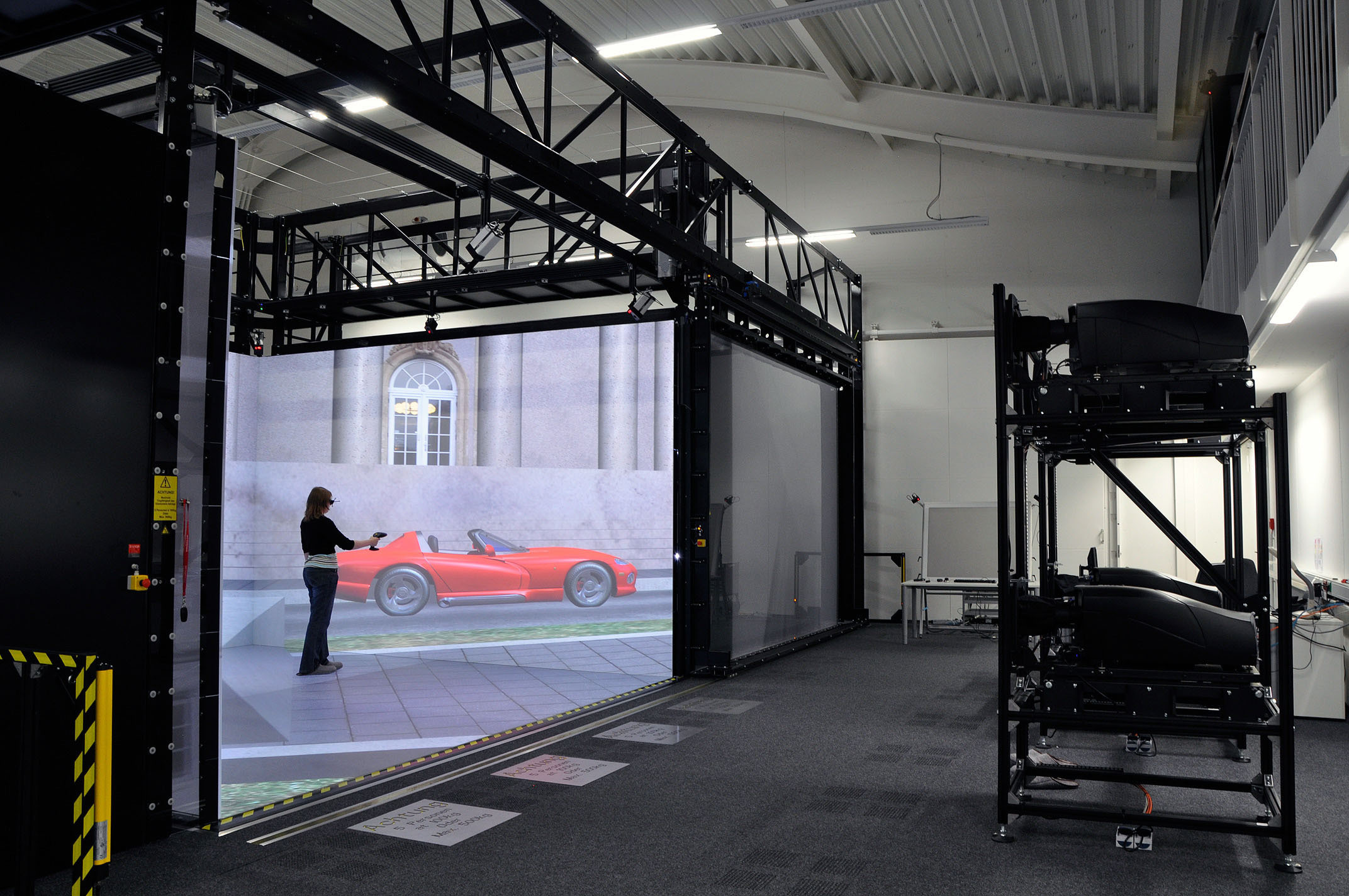 Simulation of a Car in the CAVE